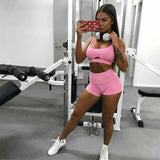 2-Piece Pink Tank And Shorts