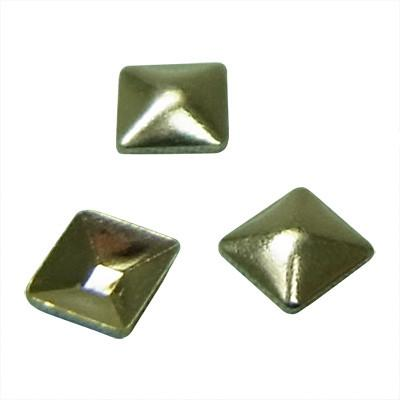 NLS Metal Studs Sharp Pyramid Silver (2mm) 50pcs