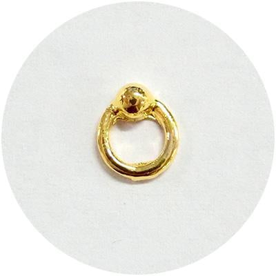 Nail Labo Captive Bead Ring Gold [Limited Supply]