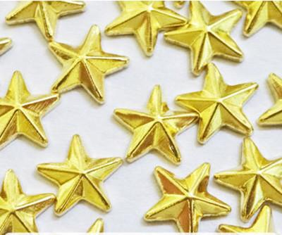 Nail Labo Metal Shiny Star Studs Gold 6mm