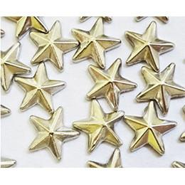 Nail Labo Metal Shiny Star Studs Silver 4mm