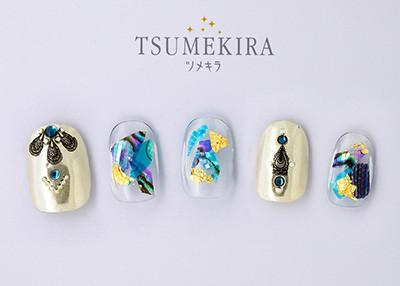 Tsumekira Sticker Marie Nails Product 1 Zentangled Black NN-MAN-102