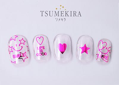 Tsumekira Jingu Mami Product 10 Metallic Message Pink SG-PRD-112 (For Gel)