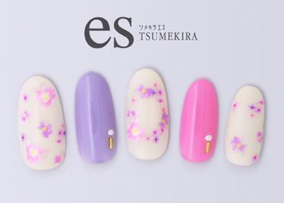 Tsumekira [es] Little Flower Pink ES-LIF-101
