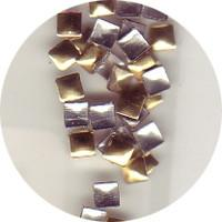 NLS Metal Studs Flat Pyramid Gold 2mm (30pcs)