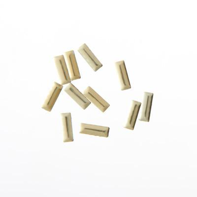 NLS Metal Studs Rectagles Gold (2x7mm) 10pcs