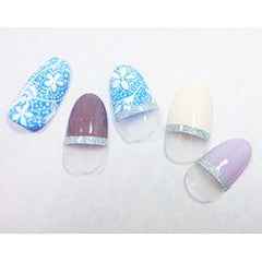 Glitter Line Tape 2mm SILVER [NEW]