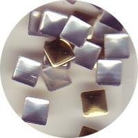 NLS Metal Studs Flat Pyramid Gold 3mm (30pcs)