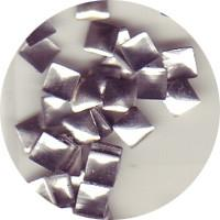 NLS Metal Studs Flat Pyramid Silver 3mm (30pcs)