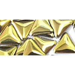 NLS Metal Studs Triangle Gold (3mm) 10pcs