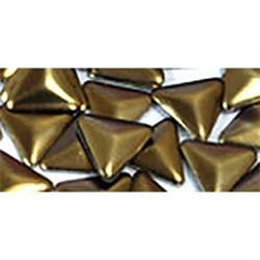 NLS Metal Studs Triangle Matte Dark Gold (3mm) 10pcs [While Supplies Last] discontinued