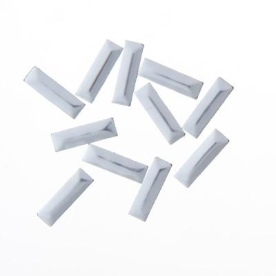 NLS Metal Studs Rectagles Silver (3x10mm) 10pcs [While Supplies Last]