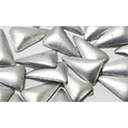 NLS Metal Studs Triangle Sharp Matte Light Silver (3x5mm) 10pcs [While Supplies Last]