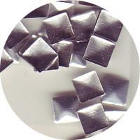 NLS Metal Studs Flat Pyramid Silver 4mm (30pcs) [While Supplies Last]