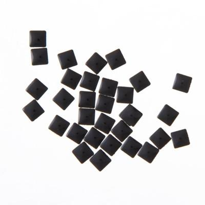 NLS Metal Studs Flat Pyramid Black (4mm) 30pcs [While Supplies Last[
