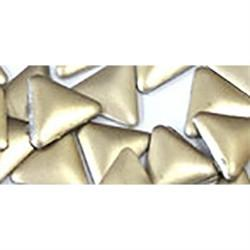 NLS Metal Studs Triangle Matte Light Gold (4mm) 10pcs [While Supplies Last]