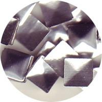 NLS Metal Studs Flat Pyramid Silver (5mm) 30pcs [While Supplies Last]