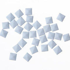 NLS Metal Studs Flat Pyramid White (5mm) 30pcs [While Supplies Last]