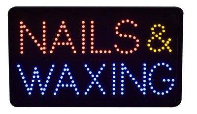 LED Nails & Waxing  Sign 10