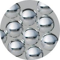NLS Metal Dots Silver #7 (3mm) 50pcs