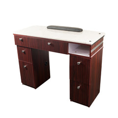 Fiori Manicure Table - Dark Brown