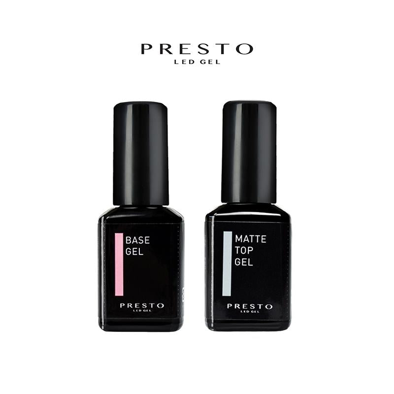 PRESTO CLEAR BASE AND MATTE TOP GEL BUNDLE [BOTTLE]