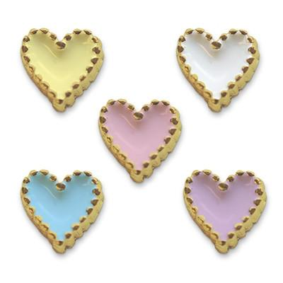Mode Nail Nail Charm Heart Gold Assorted Colors  [While Supplies Last]