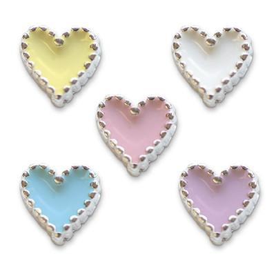 Mode Nail Nail Charm Heart Silver Assorted Colors  [While Supplies Last]