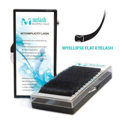 MYELLIPSE FLAT EYELASH Single Size| C Curl ( $18 buy 10 or more )
