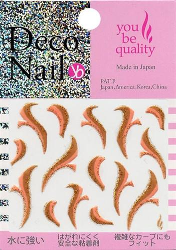 Deco Nail Sticker N-204G Gold