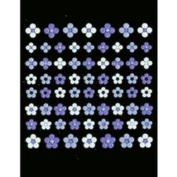Joby Nail Art Sticker 3D Collection NA03-04 Purple/White Flowers [While Supplies Last]