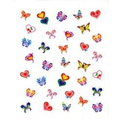 Joby Nail Art Sticker NA09-06 Butterflies and Hearts [While Supplies Last]
