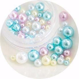 Nail Labo Ball Pearl Assorted Blue