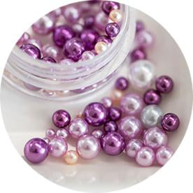 Nail Labo Ball Pearl Assorted Purple