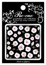Re-cue Nail Stcikers RO-1 White&Mazenda Roses [While Supplies Last]