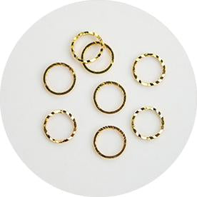 NLS Metal Circle Reversible Gold M (10pcs)