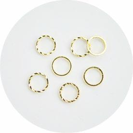 NLS Metal Circle Reversible Gold S