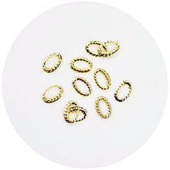 NLS Metal Circle Rope Oval Gold (5mm) 10pcs