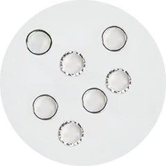 NLS Metal Circle Reversible Silver S (10pcs)