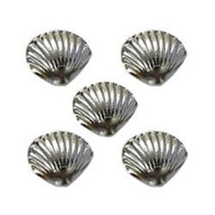 NLS Shell Stones Clam Silver (5mm) 5pcs