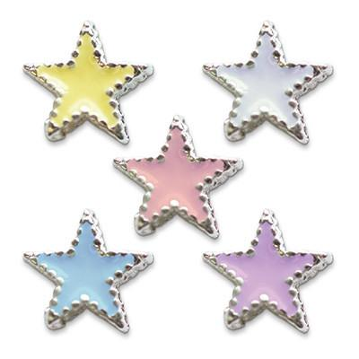 Mode Nail Nail Charm Star Silver Assorted Colors  [While Supplies Last]