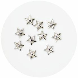 Nail Labo Metal Shiny Star Studs Silver 6mm