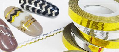 Nail Labo Striping Tape Line Zigzag Gold (1mm)