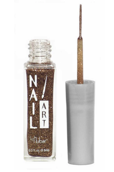 Nubar Nail Art Striper A109 Brown/Gold Glitter