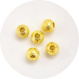 Nail Labo Metal Crush Beads Gold 4mm