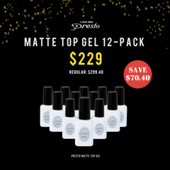 Presto Matte Top Gel 12-Pack Value Set [Bottle] [BLACK FRIDAY SALE ONLY]