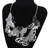 Women Butterfly Necklace Chain Jewelry