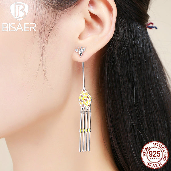 2018 New Fashion Long Drop Giraffe Earrings