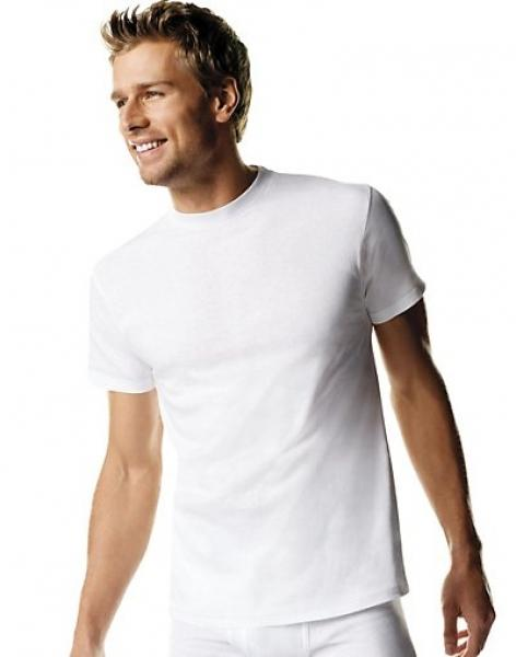 Hanes Men's TAGLESS® ComfortSoft® Crew Undershirt Tall 3-Pack - Best Seller!