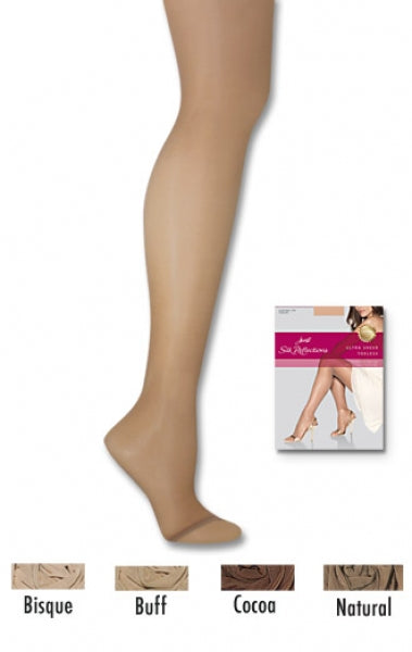 HANES SILK REFLECTIONS ULTRA SHEER TOELESS CONTROL TOP